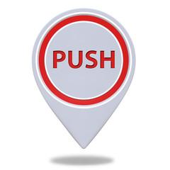 push pointer icon on white background