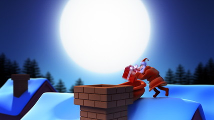 Santa Claus on the roof