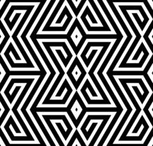 Résumé noir et blanc ZigZag vectorielle Seamless