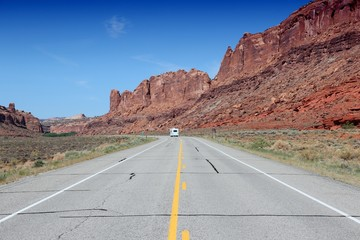 Road in United States - Utah landscape