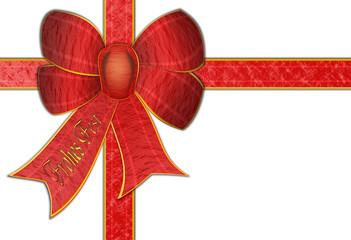 weihnachtliches Geschenkband