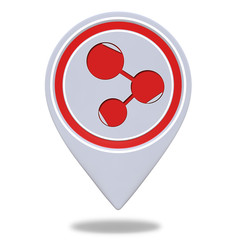 Database pointer icon on white background