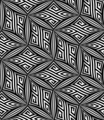 Abstract Op Art ZigZag Vector Seamless Pattern