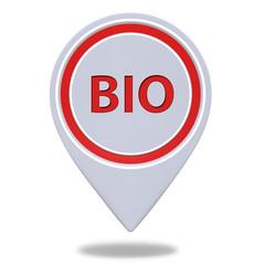 Bio pointer icon on white background