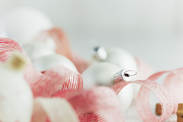 Close-up of white Christmas ornament
