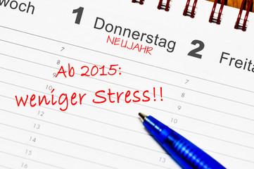 Ab 2016 weniger Stress