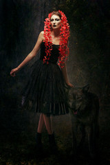 Contemporary version of red riding hood