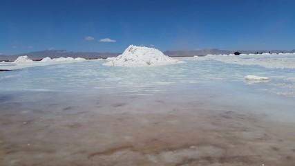 Rippling waves of salt lake Uyuni