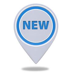 New pointer icon on white background