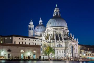 Santa Maria della Salute illuminated at night