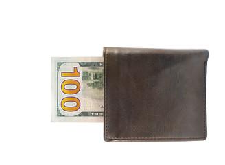 New one hundred dollar bills in wallet