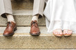 Füße des Brautpaars