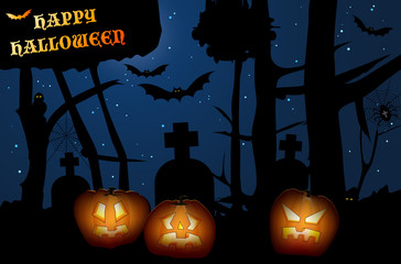 Creepy forest - Halloween night