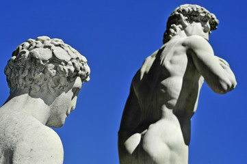 Replica of the David by Michelangelo in Florence, Italy