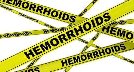 Геморрой (hemorrhoids). Желтая оградительная лента