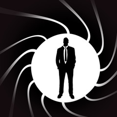 Vector silhouettes of man.