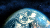 Realistic Earth closeup render - 72788002
