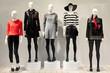 Leinwandbild Motiv Mannequins in a clothing store