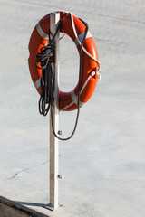 life preserver and rope