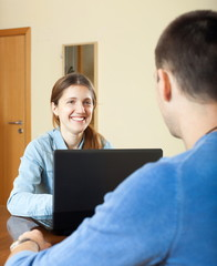 Man  woman questionnaire for  social worker