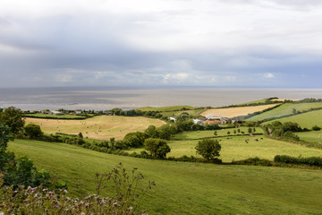 country and coast near st Audries bay, Somerset