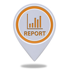 Report pointer icon on white background