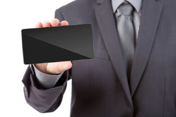 Business man Hand holding mobile smart phone