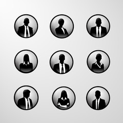profile icon business set male and female