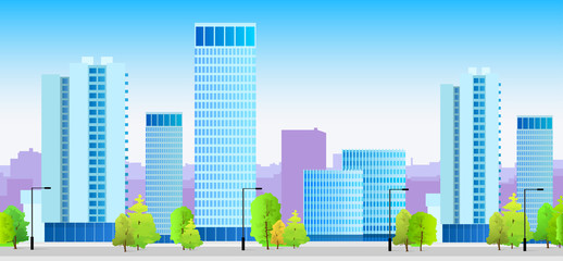 city skylines blue illustration architecture building cityscape