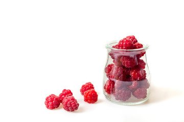 fresh garden raspberries