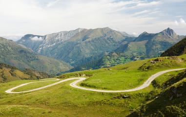 port Aubisque, mountain pass in Pyrenees-Atlantiques, France.