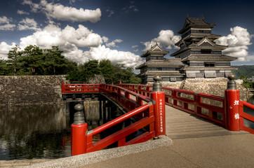 Matsumoto castle with blue sky, Japan