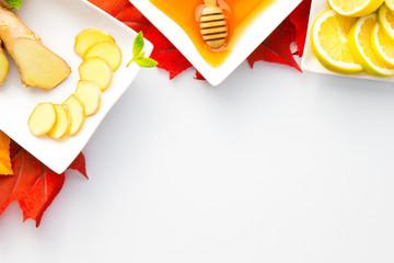 Honig Minze, Ingwer Zitrone