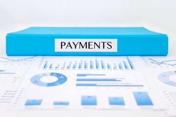 Payments documents, graph analysis and financial report