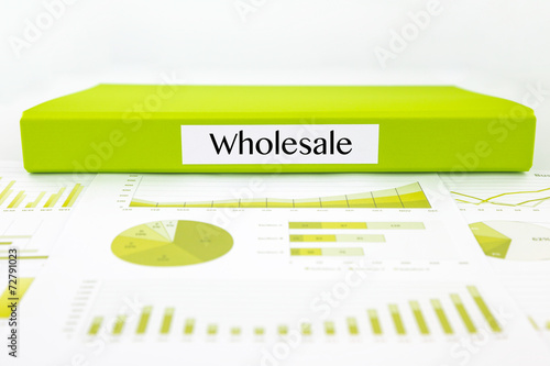 Wholesale documents, graphs analysis and marketing report