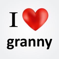 Card i love granny