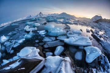 Unusual Arctic ice landscape - Spitsbergen
