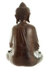 Buddha sculpture isolated on white background