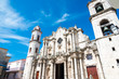 The Cathedral of Havana with a beautiful blue sky