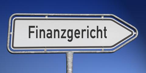 Richtungsschild Finanzgericht