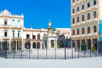 Plaza Vieja or Old Square in Havana, a tourist landmark