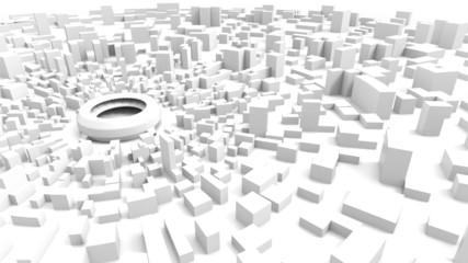 stadium and city