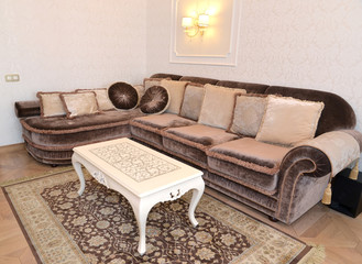 Furniture in a modern classical drawing room