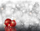 Christmas snowflakes and baubles