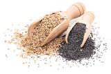 Sesame and poppy seeds.
