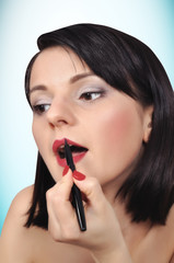 girl makeup lips