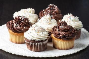 Cupcake panna e  cioccolato decorati