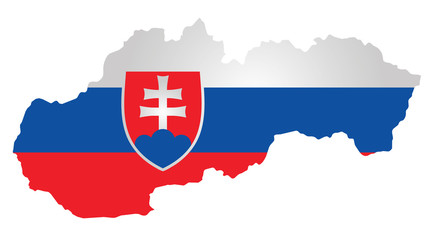 Flag with coat of arms of the Slovak Republic