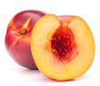 Nectarine fruit isolated on white background cutout