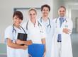 Multiethnic Doctors With Stethoscopes Around Neck In Hospital